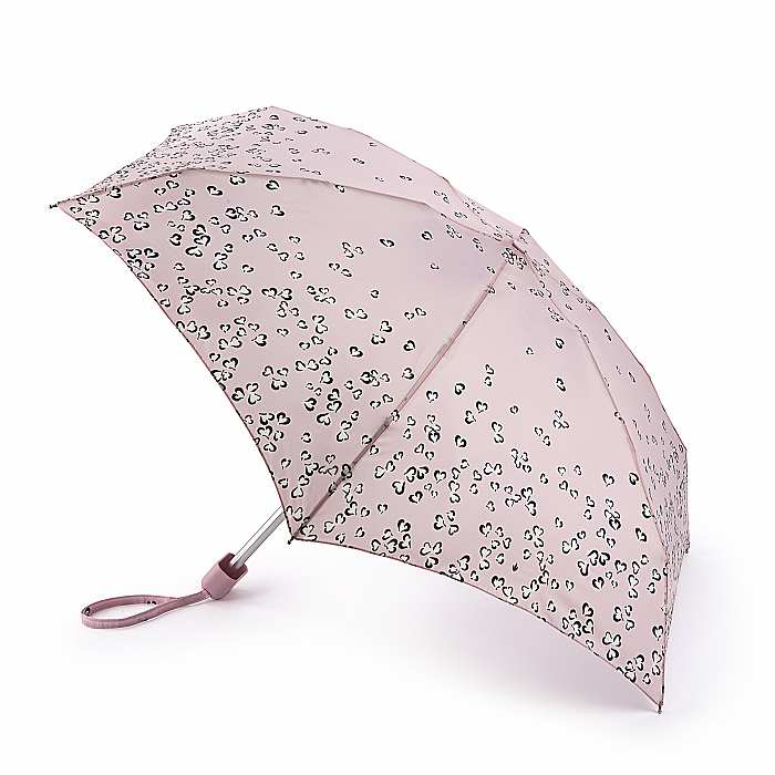Fulton 'Tiny' Compact Folding Umbrella - Petal Hearts