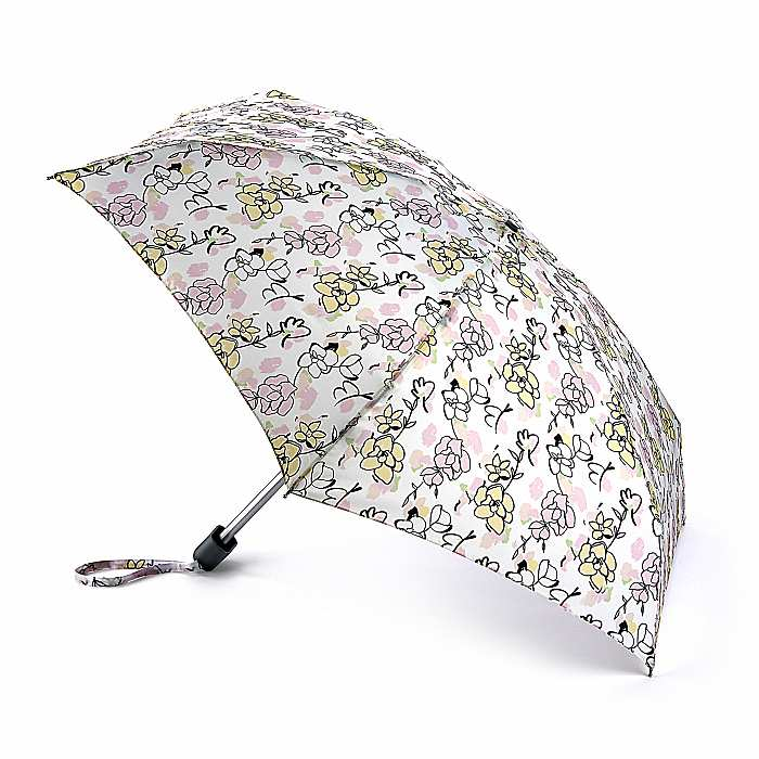 Fulton 'Tiny' Compact Folding Umbrella - Drawn Floral