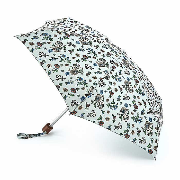 Fulton 'Tiny' Compact Folding Umbrella - Vintage Petal
