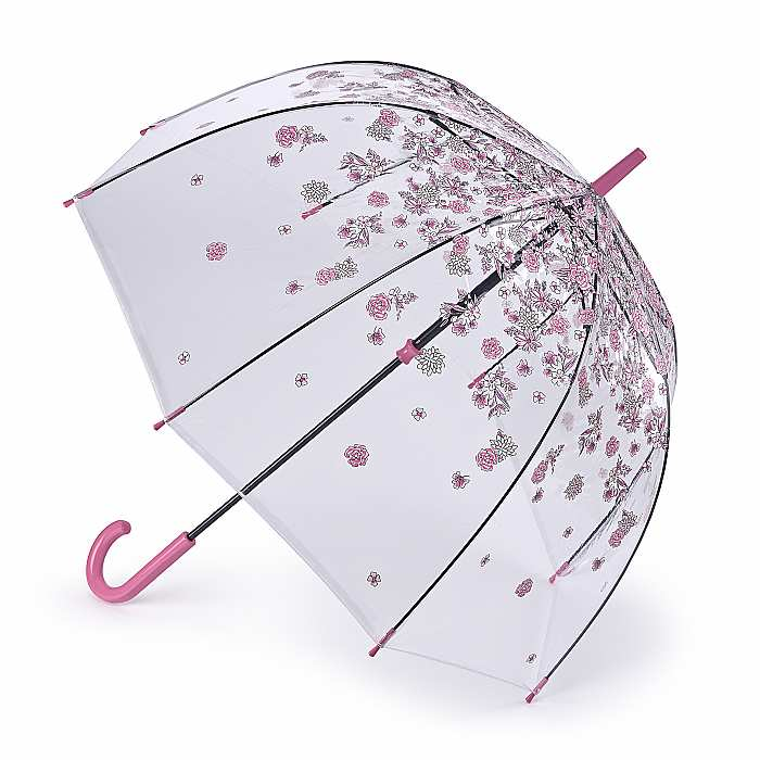 Fulton Birdcage Clear Dome Umbrella - Sketchy Sprigs