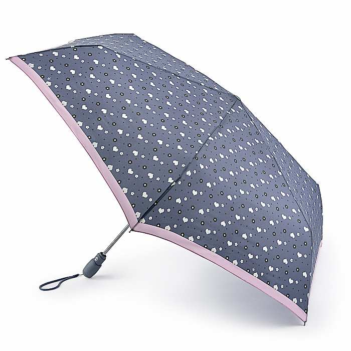 Fulton Open & Close Superslim Folding Umbrella  - Flower Power
