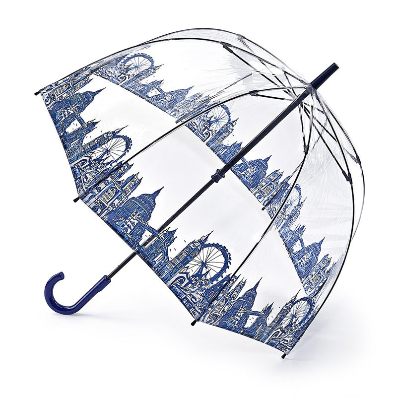Fulton Birdcage Clear Dome Umbrella - London Icons