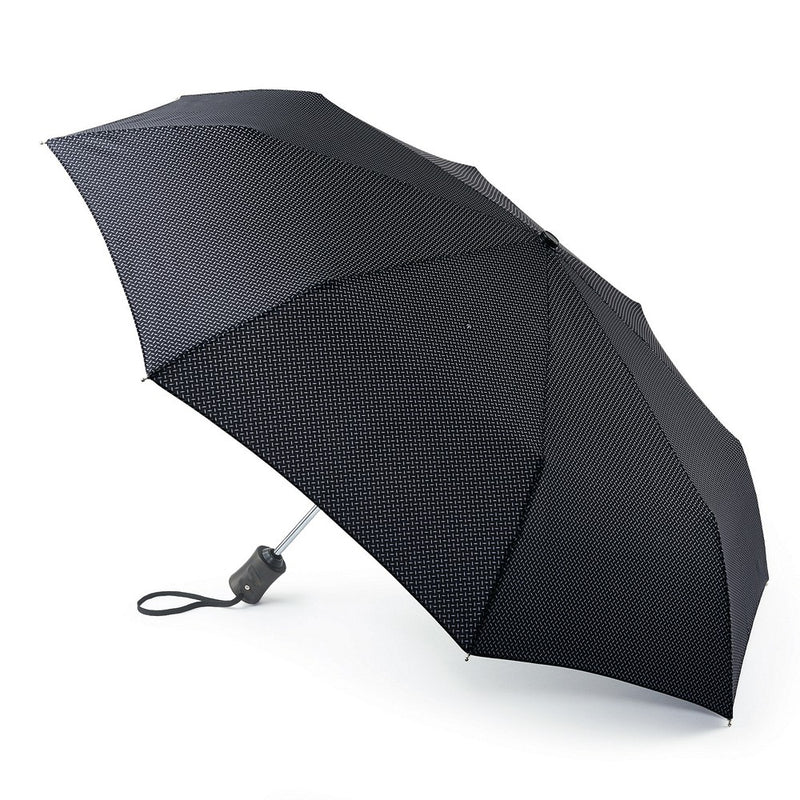 Fulton Hoxton Cross Print Black  Folding Umbrella