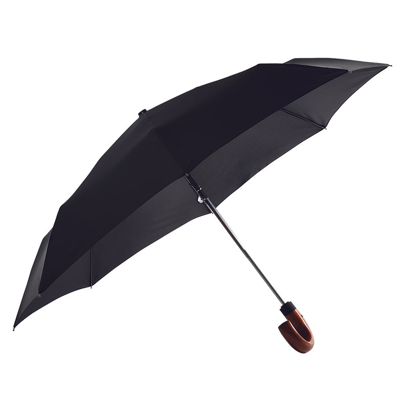 Classic AOC Wood Hook Folding Umbrella