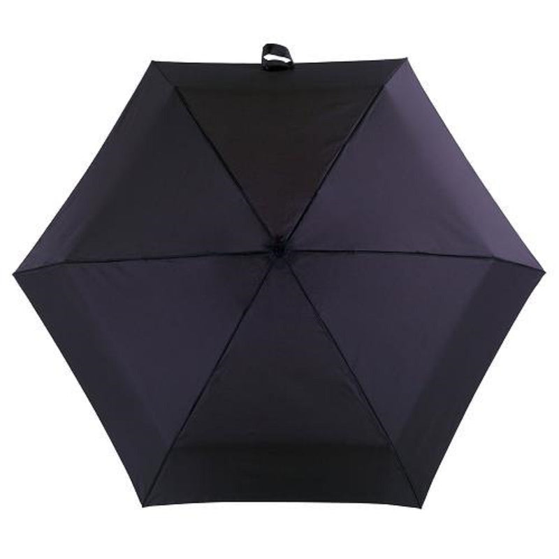 Totes Automatic Wood Crook Folding Umbrella - Black