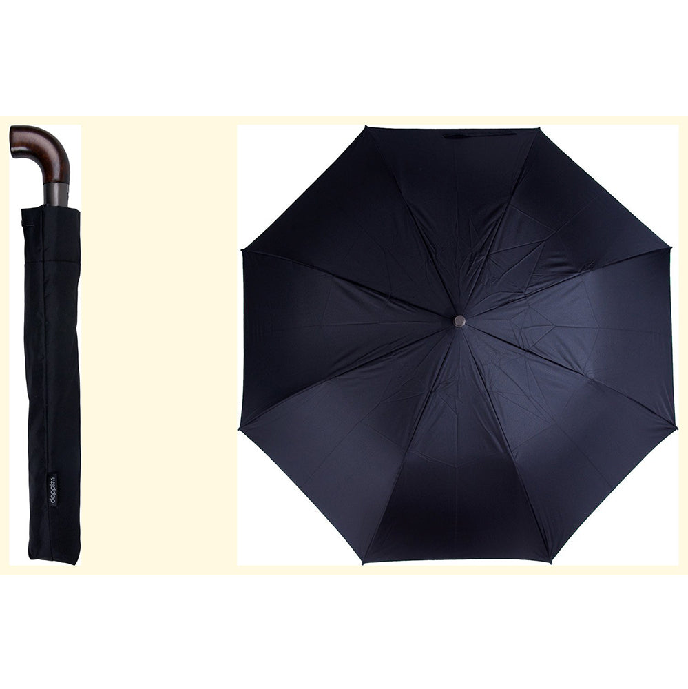 Doppler Magic XL Oversize Auto Folding Umbrella - Black