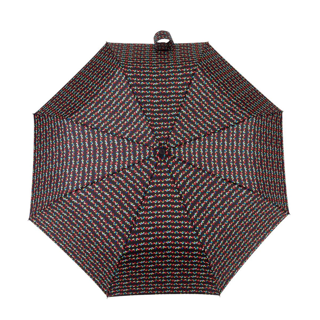 Totes Ladies Wind Resistant 'X-tra Strong' AOC Umbrella - Dotty Print