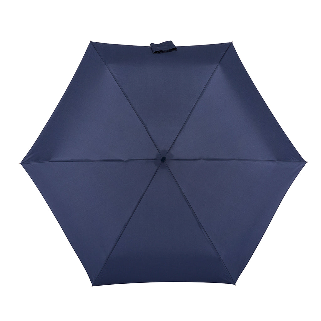 Totes Miniflat 5 Section Folding Umbrella - Navy