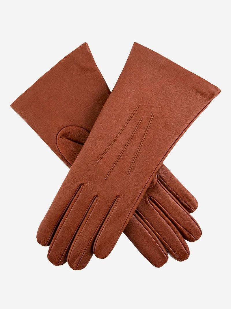 Dents Ladies 'Isabelle' Cognac (7-1134) Cashmere Lined Leather Gloves - Size 7.5
