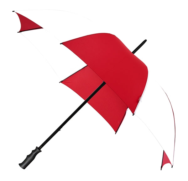 The Mirage Wind Resistant Golf Umbrella - 2 Tone Red White