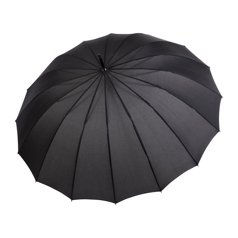 Doppler 'Liverpool' Auto 16 Rib Walking Umbrella Black