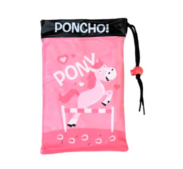 Bugzz Children's Waterproof Poncho - Pink Pony