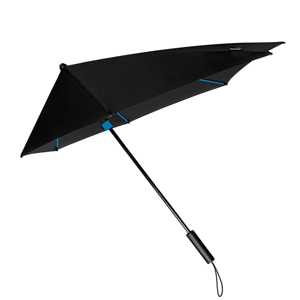 STORMaxi® Storm Umbrella Special Edition Black with Blue Highlights