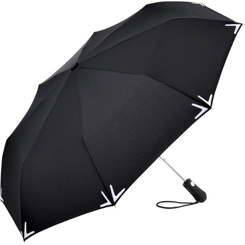 FARE 5571 Lumen Safebrella LED Torch AO Folding Umbrella - Black