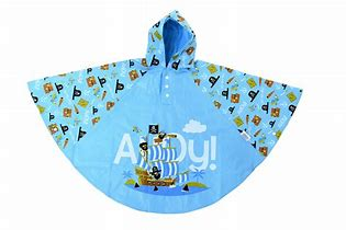 Bugzz Children's Waterproof Poncho - Pirate Ship AHOY!