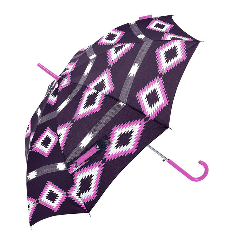 Bisetti Automatic Walking Umbrella - Pink Aztec