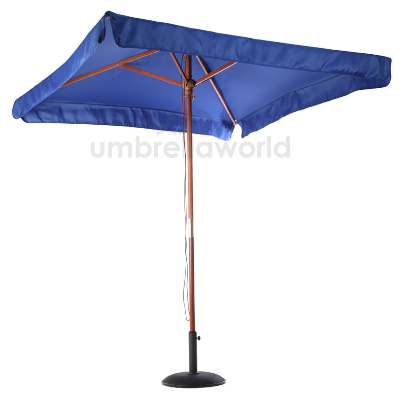 Patio / Garden 2x2m Square Parasol with Valance - Dark Blue