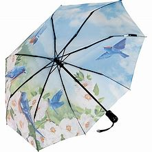 Galleria Floral Automatic Folding Umbrella - Bluebird