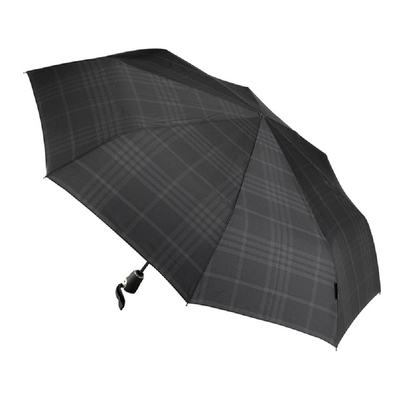 Bugatti Gran Turismo Automatic Folding Umbrella - Black Check