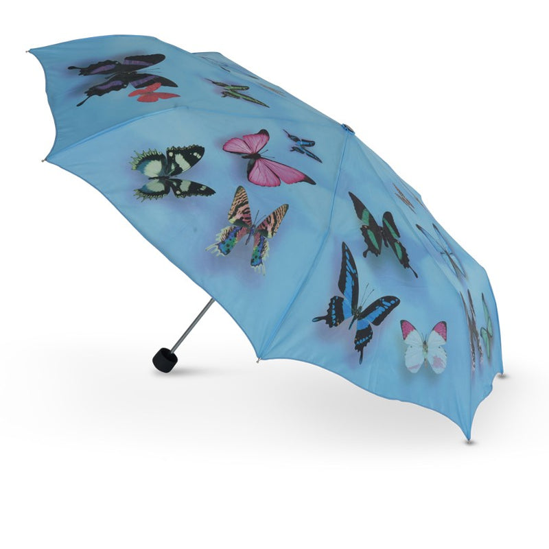 Cascada Collection Blue Butterfly Folding Umbrella