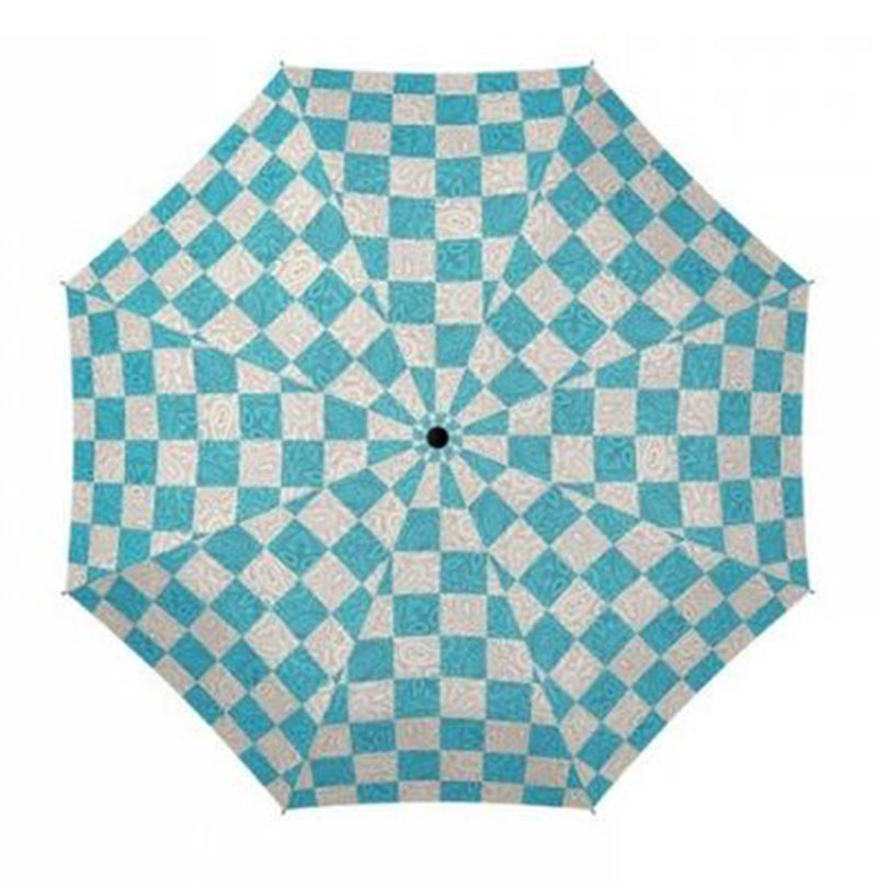 Doppler Mini Fiber Chess Paisley Folding Umbrella - Blue