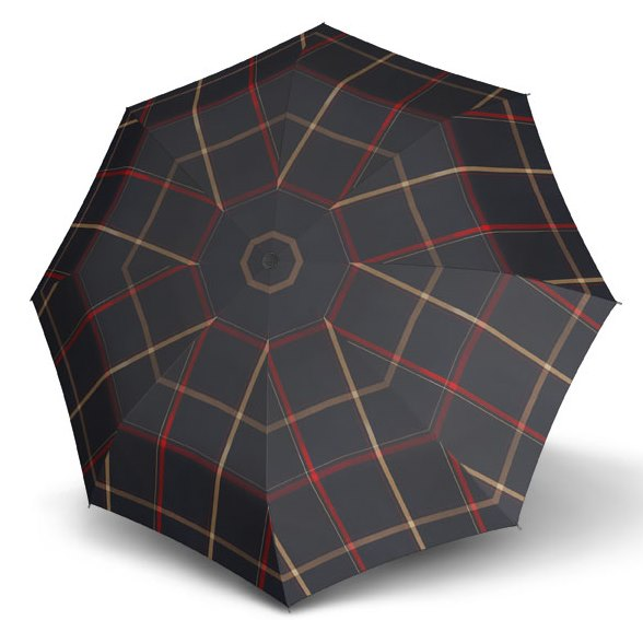 Carbon Steel Karo Navy Check Folding Umbrella