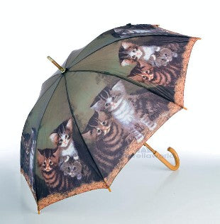 "Cascada Collection ""Four Kittens"" by C. Wilson Walking Umbrella"