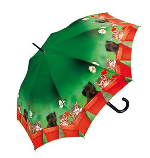 Doppler Art Collection Cat Print Auto Walking Umbrella