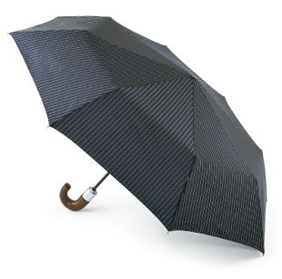 Fulton Chelsea 'City Stripe' Navy Folding Umbrella