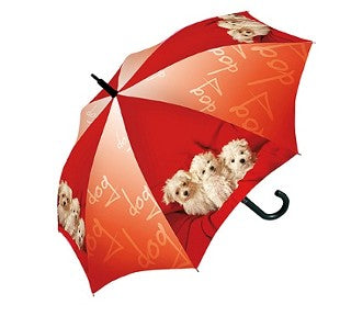 Doppler Children's Art Collection Fluffy Puppies Auto Umbrella
