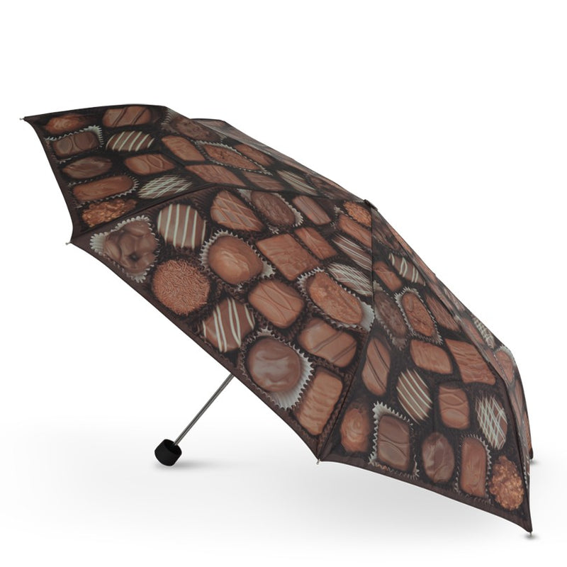 "Cascada Collection - ""Chocaholic's Dream"" Manual Folding Umbrella."