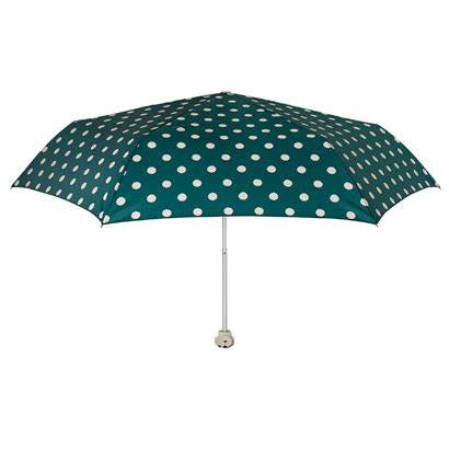 Cath Kidston Minilite Folding Umbrella - Button Spot Green with Billie Head Handle