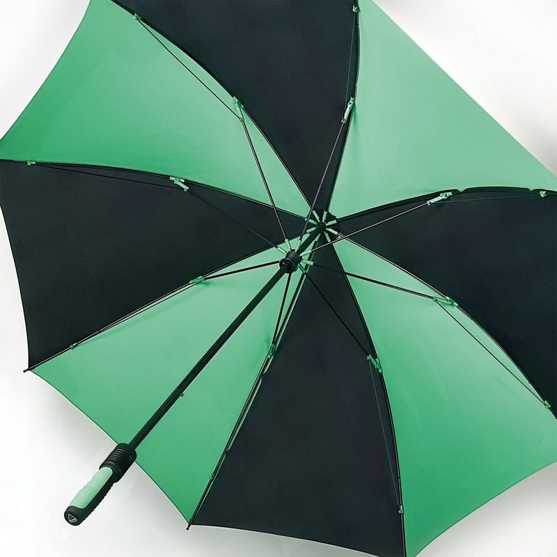 Fulton Performance 'Cyclone' Golf Umbrella - Black / Green