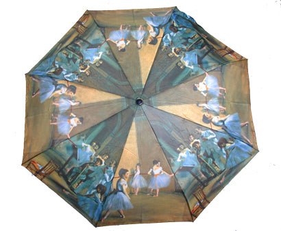 Cascada Collection - Degas Ballet Class Folding Umbrella