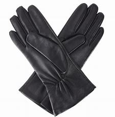 Dents Ladies 'Natalie' Silk Lined Hairsheep Leather Touchscreen Gloves - Black 6.5