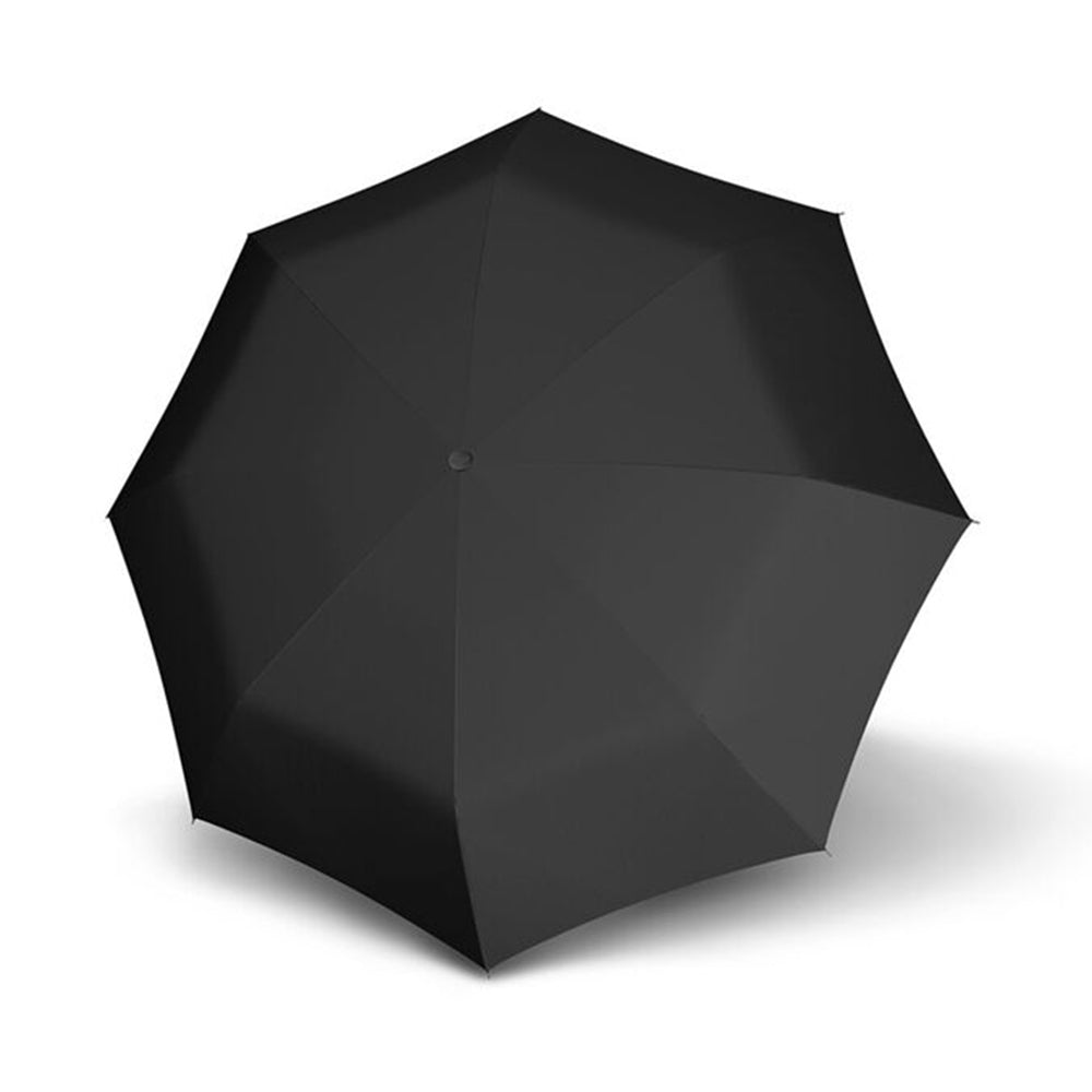 Doppler Fiber Magic Premium Leatherette Handle AOC Folding Umbrella - Black