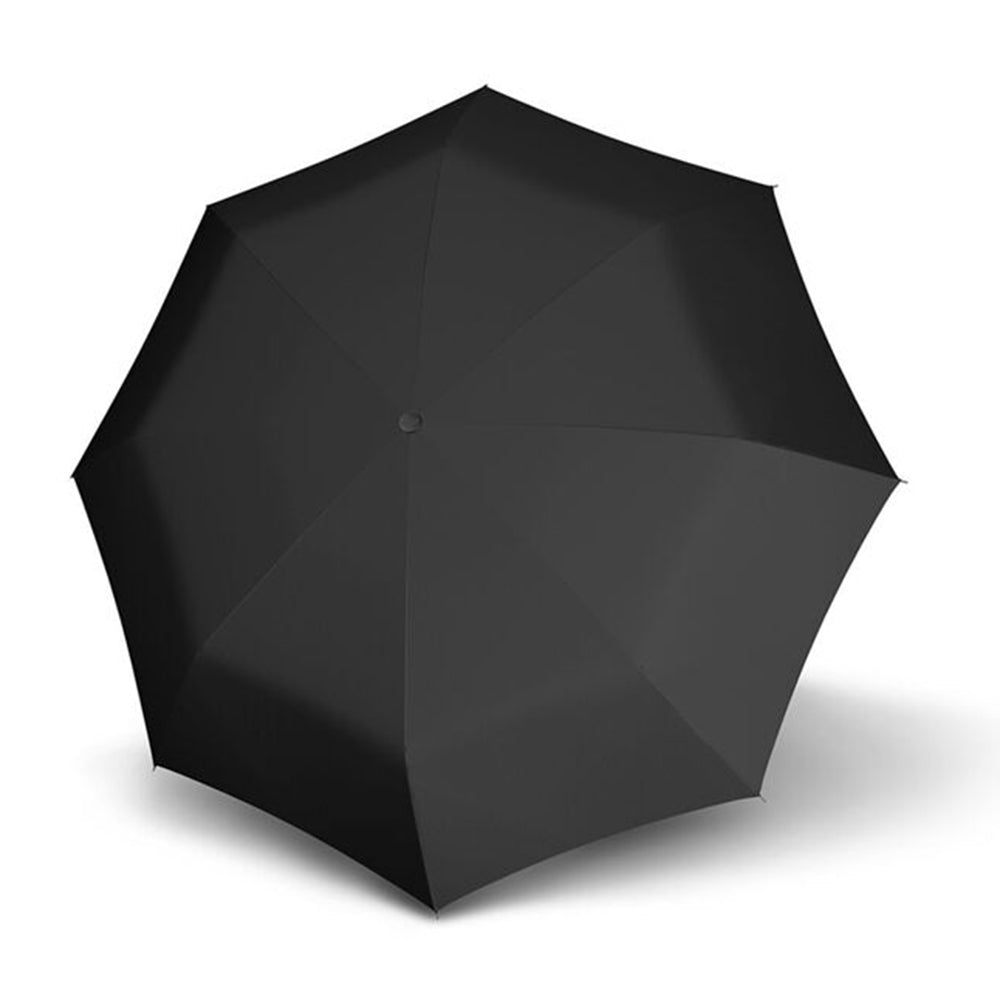 Doppler Fiber Magic Premium XM Leatherette Hook AOC Folding Umbrella - Black