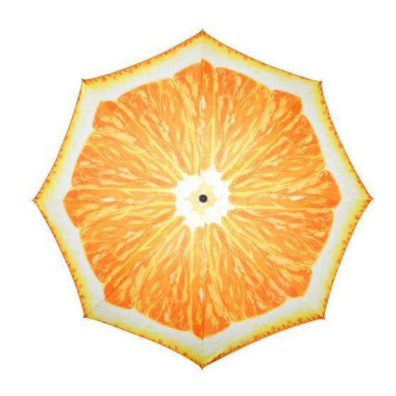 Doppler Funky Fruits UV 50+ Protection 2 Metre Beach/Garden Parasol - Orange