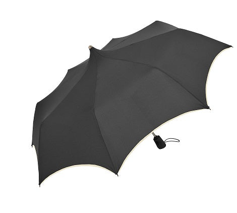 Doppler 'Mystic' Pagoda Black Automatic Folding Umbrella