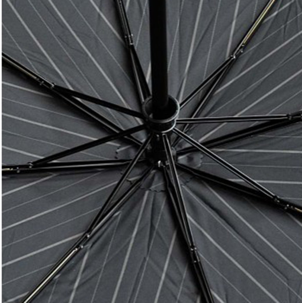 Doppler Magic XM  Auto Folding Umbrella - Grey Pinstripe