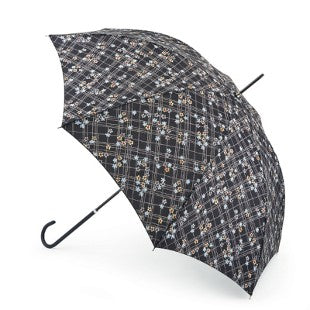Fulton Eliza Check Floral Walking Umbrella