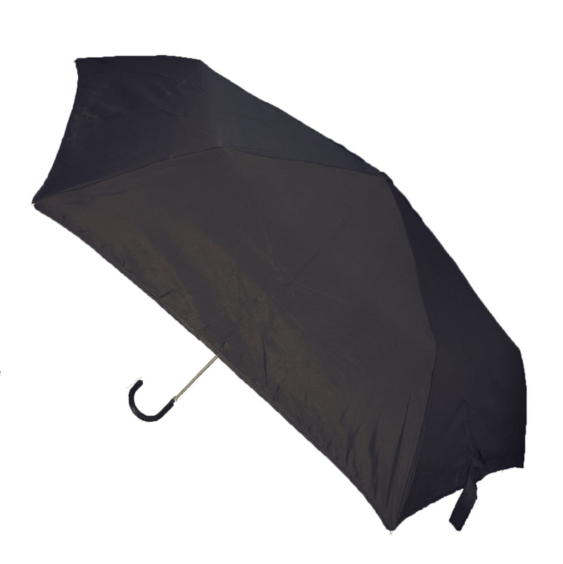 Hook Handle Folding Umbrella - Black