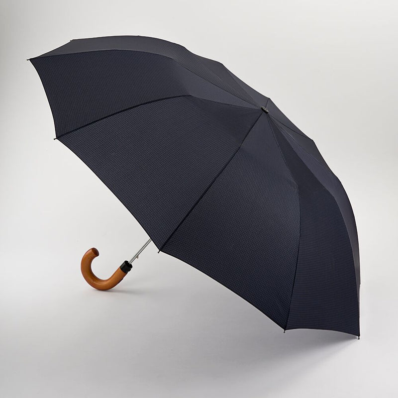 Fulton Dalston Hook Handle Automatic Folding Umbrella  Gingham
