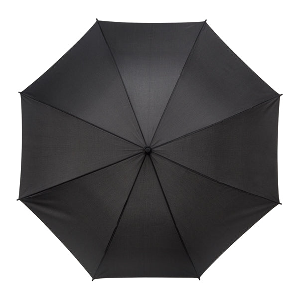 The Zeta Black Walking Length, PU Hook Handle Umbrella