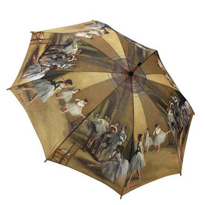 Galleria Art Print Auto Walking Umbrella - Edgar Degas 'Ballet Class'