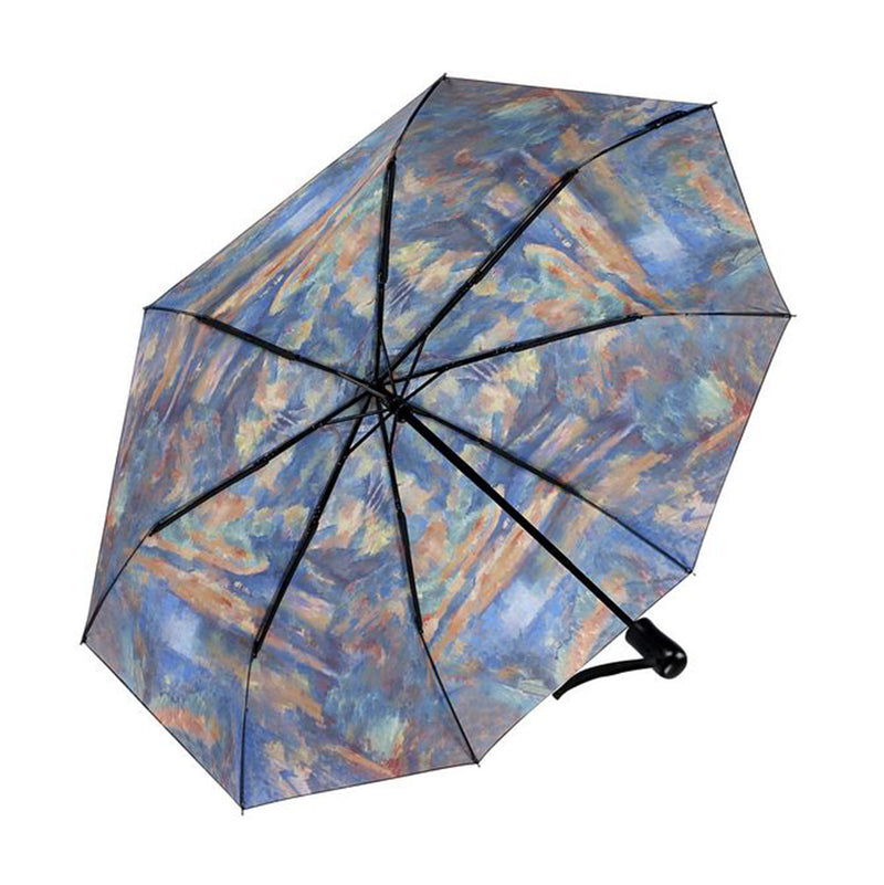 Galleria Art Print Auto Folding Umbrella - Cezanne The Brook