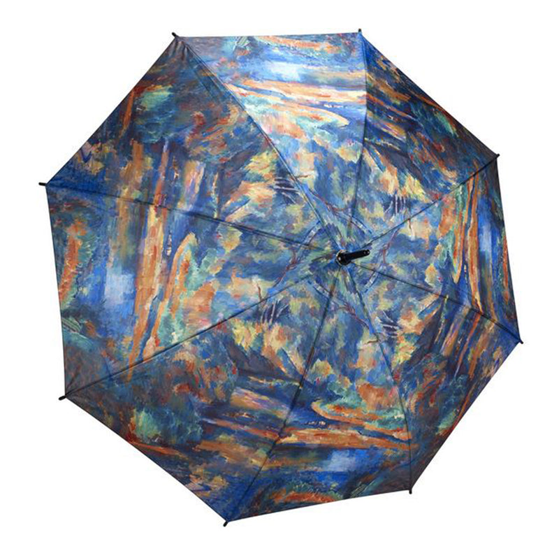 Galleria Art Print Auto Walking Umbrella - Cezanne The Brook
