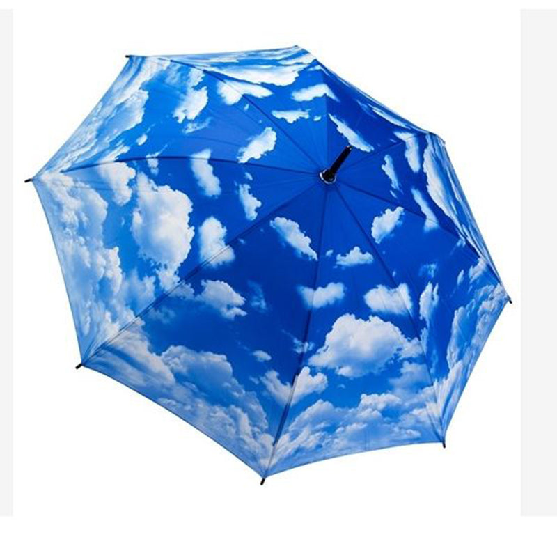 Galleria Automatic Walking Umbrella - Clear Skies (Clouds)