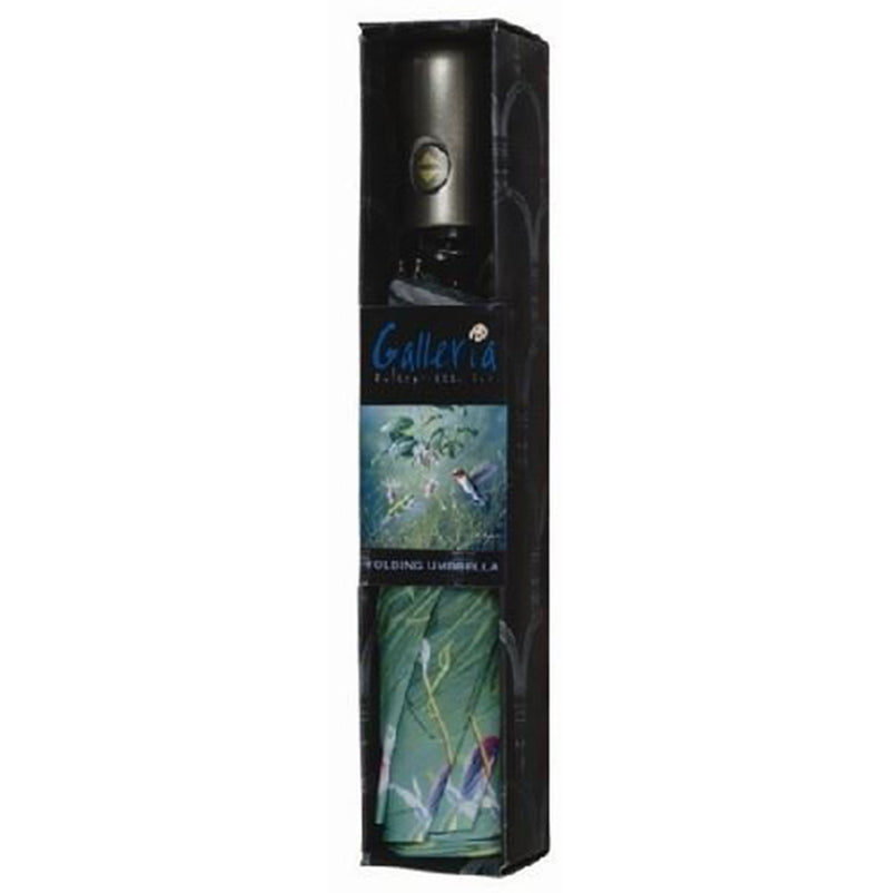 Galleria Hautman Collection Auto Folding Umbrella - Hummingbird