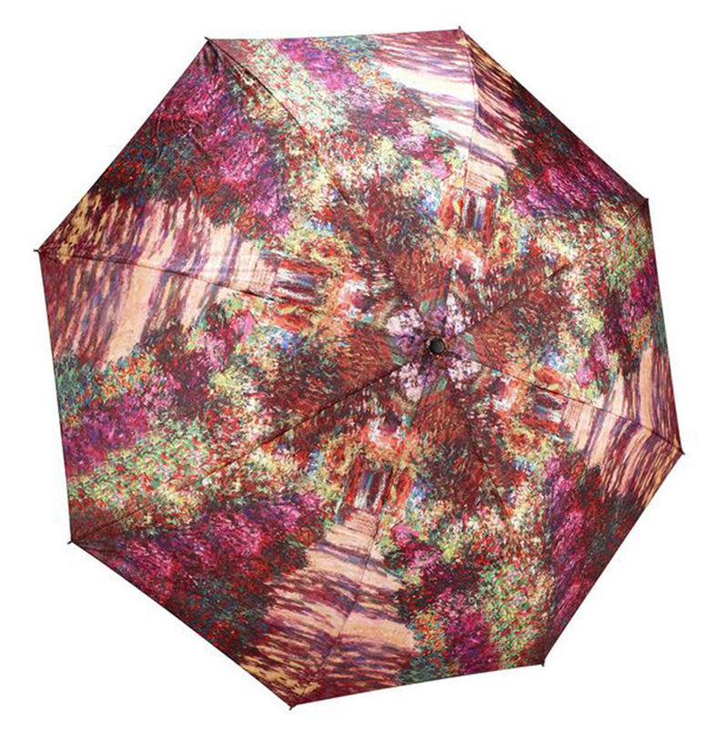 Galleria Art Print Auto Folding Umbrella - Claude Monet Pathway
